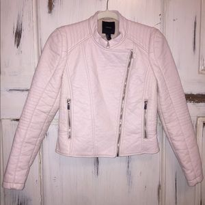 Forever 21 faux leather light pink jacket. Size S